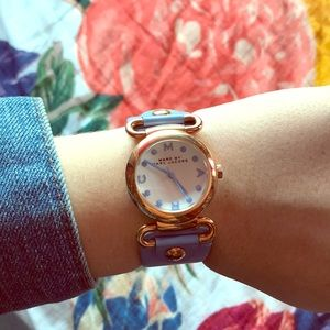 Marc by Marc Jacobs periwinkle leather watch